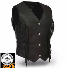 Apache FIL572SDM Ladies Leather Vest | First Manufacturing