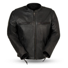 Indy - Men's Motorcycle Leather Jacket FIM287CDL