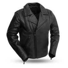 Night Rider - Men's Leather Motorcycle Jacket FIM269CPMZ | First Manufacturing
