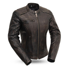 Trickster - Women's Leather Motorcycle Jacket FIL164SDC | First Manufacturing