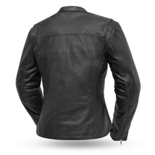 Roxy - Light weight cafe style leather jacket FIL116CSLZ | First Manufacturing