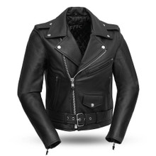 Bikerlicious - Women's Leather Motorcycle Jacket FML137CRP | First Manufacturing
