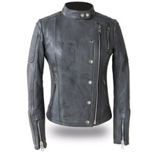 Warrior Princess - Women's Leather Motorcycle Jacket FIL187CJZ   First Manufacturing