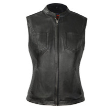 Envy - Women's Motorcycle Leather Vest FIL513SDM | First Manufacturing