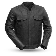 Cutlass FIM266DML Denim Men's Leather Jacket | First Manufacturing