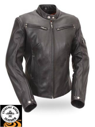 ed132ce73a94 FIL157NOCZ Athena Womens Sleek Vented Motorcycle Scooter Jacket. Loading  zoom