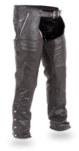 FIM840 Unisex Double Deep Pocket Thermal Motorcycle Chap is the best chap to have on hand. comes in Brown leather.