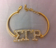 Sigma Gamma Rho Sorority Bracelet-Gold