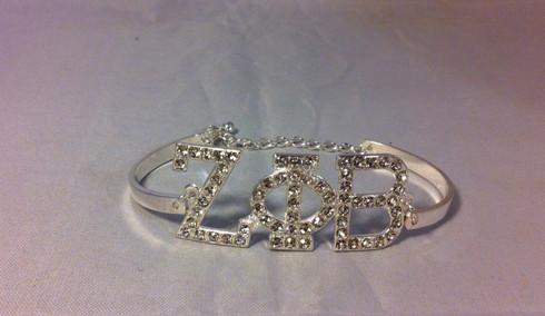 Zeta Phi Beta Sorority Bracelet-Silver