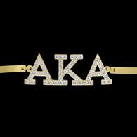 Alpha Kappa Alpha Sorority Bracelet-Gold