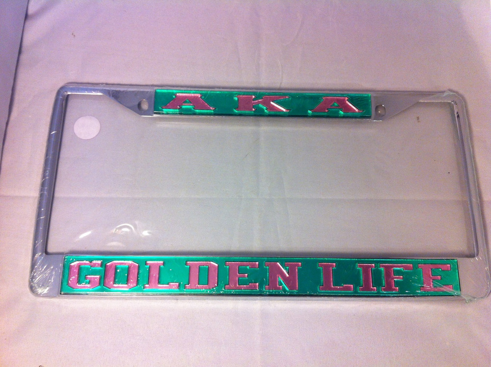 Alpha Kappa Alpha Golden Life License Plate Frame
