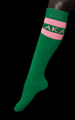 Alpha Kappa Alpha AKA Sorority Knee High Socks