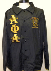 Alpha Phi Alpha Fraternity Line Jacket- Black