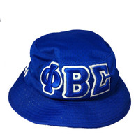 Phi Beta Sigma Fraternity Three Greek Letter Floppy Mesh Bucket Hat