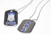 Phi Beta Sigma Fraternity Reversible Dog Tag