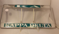 Kappa Delta Sorority License Plate Frame
