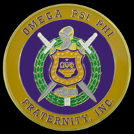 Omega Psi Phi Fraternity Car Emblem