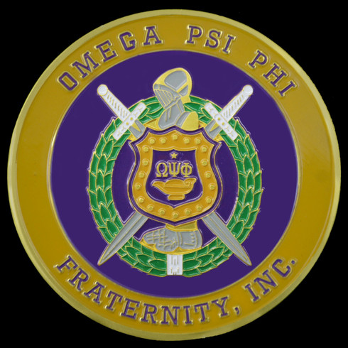 Omega Psi Phi Fraternity Auto Emblem Brothers And