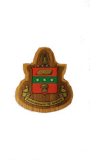 Alpha Chi Omega Raised Wood Crest