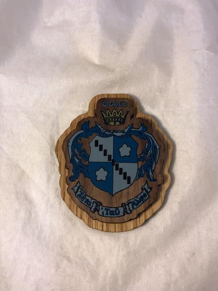 Zeta Tau Alpha ZTA Raised Wood Crest