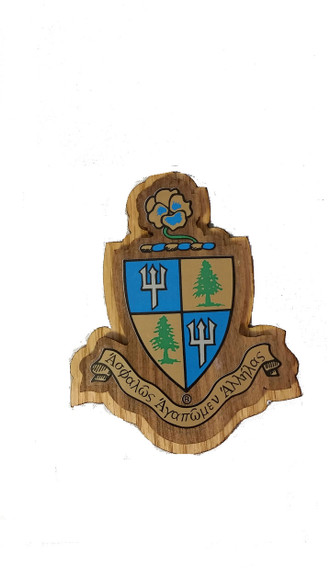 Delta Delta Delta Tri-Delta Raised Wood Crest