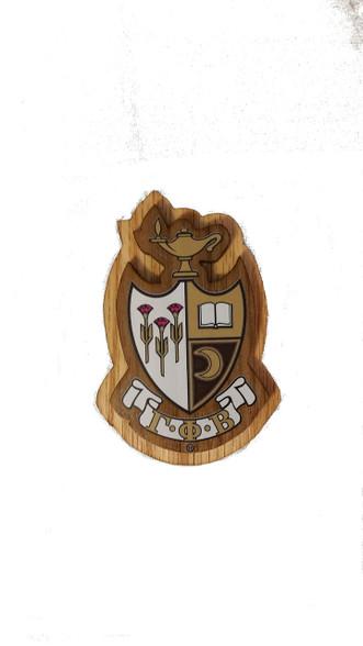 Gamma Phi Beta Raised Wood Crest