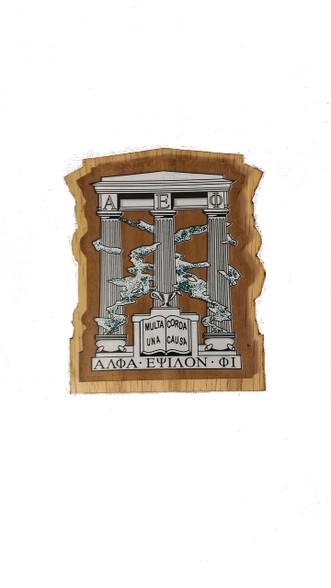 Alpha Epsilon Phi AEPHI Raised Wood Crest