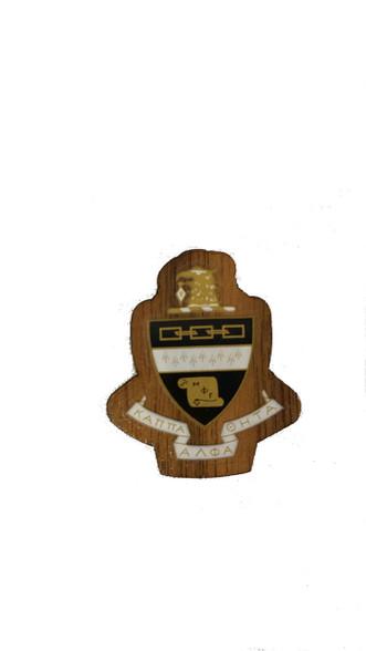 Kappa Alpha Theta Sorority Mini Wood Crest