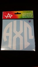 Alpha Chi Omega Sorority Monogram Car Decal