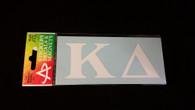 Kappa Delta Sorority White Car Letters