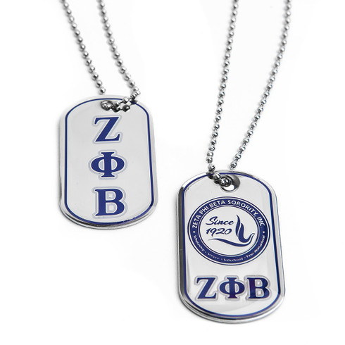 Zeta Phi Beta Sorority Reversible Dog Tag - Brothers and Sisters ...