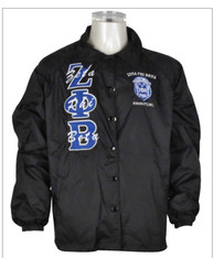 Zeta Phi Beta Sorority Line Jacket- Black