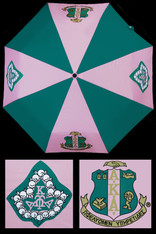 Alpha Kappa Alpha AKA Sorority Auto Open Folding Umbrella