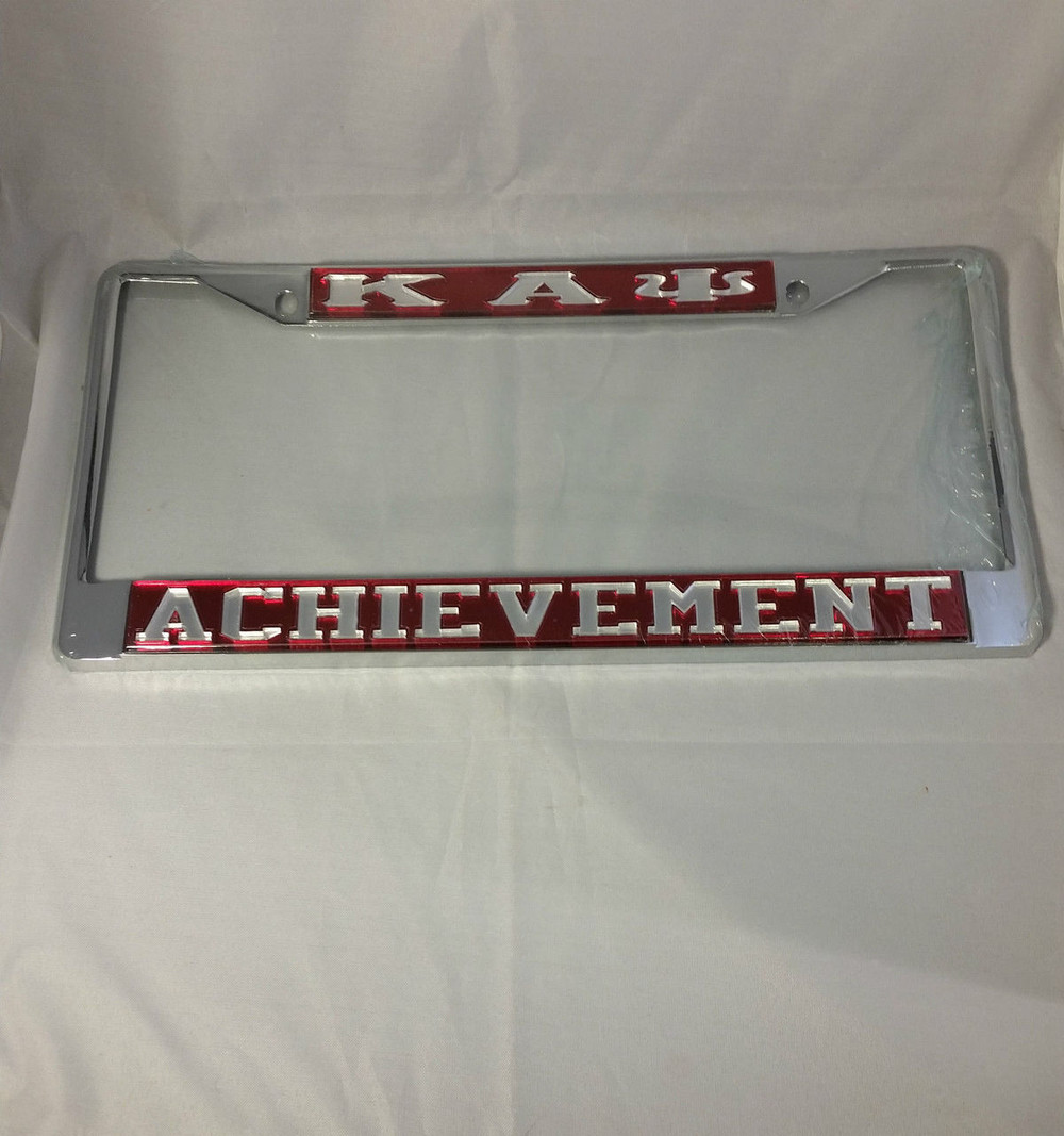 Kappa Alpha Psi Fraternity Achievement License Plate Frame