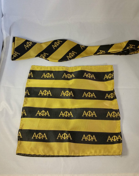 Alpha Phi Alpha Fraternity Bow Tie and Pocket Square Set