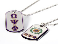 Omega Psi Phi Fraternity Reversible Dog Tag