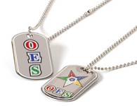 Order of the Eastern Star OES Reversible Dog Tag