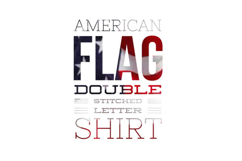 American Flag Fraternity Double Stitch Shirt