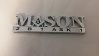 Mason Masonic 2B1 Ask1 Car Emblem