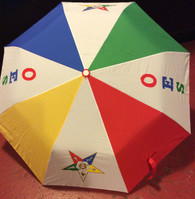 Order of the Eastern Star OES Auto Open Folding Umbrella