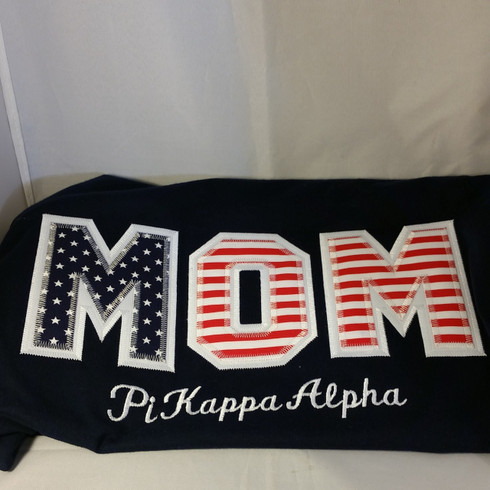 Example- Shirt Inspiration- American Flag  Sorority Mom Shirt