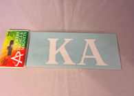 Kappa Alpha Fraternity White Car Letters