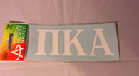 Pi Kappa Alpha PIKE Fraternity White Car Letters