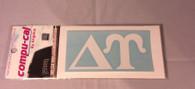 Delta Upsilon Fraternity White Car Letters
