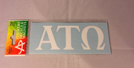 Alpha  Tau Omega Fraternity White Car Letters