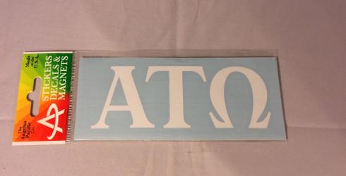 Alpha  Tau Omega Fraternity White Car Letters