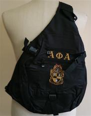 Alpha Phi Alpha Fraternity Sling Shoulder Bag Backpack with Greek Letters and Fraternity Crest