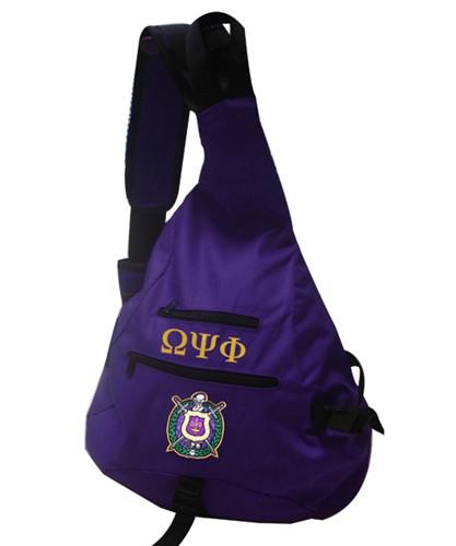 Omega Psi Phi Fraternity Sling Shoulder Bag Backpack With