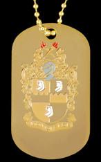 Alpha Phi Alpha Fraternity Reversible Dog Tag-Gold