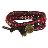 Alpha Phi Sorority Triple Wrap Bracelet